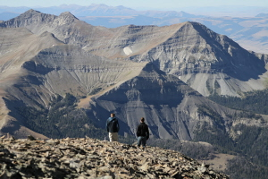 hikers at Lone Peak by Chris Kamman courtesy of Big Sky Resort