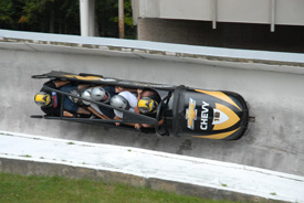 bobsledding in Lake Placid