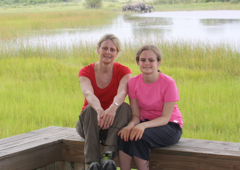 Susan Farewell and Justine Seligson in Botswana